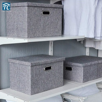 Foldable Clothes Storage Box Covered Wardrobe Fabric Underwear Household Organizers Containers Home Collapsible Cube Drawers
