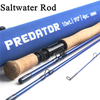 Maximumcatch Predator 9FT Saltwater Fly Fishing Rod 8 12WT 4 Section 30T SK Carbon Waterproof Fly Rod