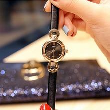 цена на Quartz Bracelet Watch Ladies Dress Watches Women's Watch Luxury Casual Dresses Wrist Watches Women Creative Leather Strap