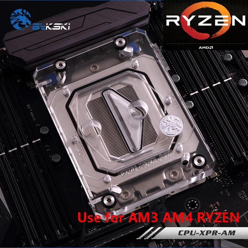 Bykski CPU Bloc De Refroidissement à Eau Radiateur utiliser pour AMD Ryzen AM4 AM3 X399 1950X Transparent Acrylique avec AURA RGB RBW CPU-XPR-AM