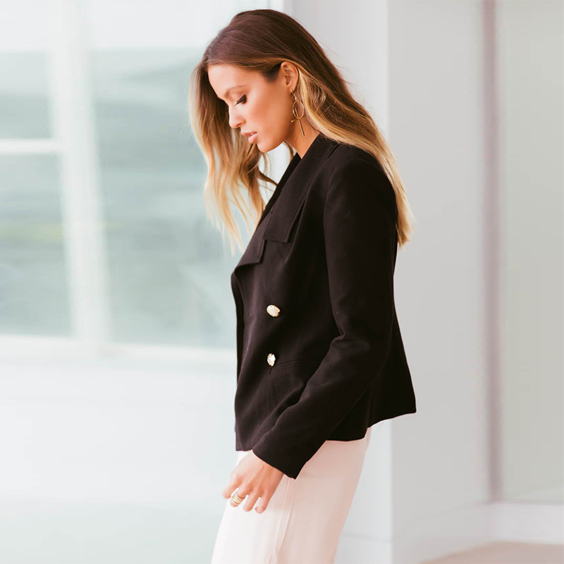 2018 Ladies Blazer Long Sleeve Blaser Women Suit jacket Female Feminine Blazer Femme Pink Blue White Black Blazer Autumn