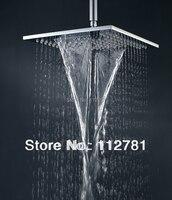 Двойной водопад душевая головка с двойным дождем и водопадом Функции душ твердая латунь хром 10 дюймов WS25X25