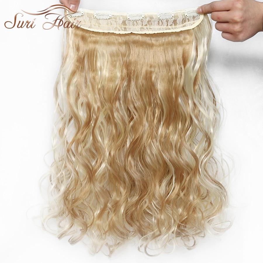 Suri hår 6 färger 24 tum svart / brunt / blont långt vågigt - Syntetiskt hår