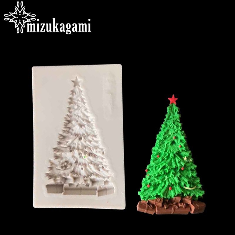 1pcs UV Resin Jewelry Liquid Silicone Mold Christmas Trees Plants Resin Charms Molds For DIY Intersperse Decorate Making Molds