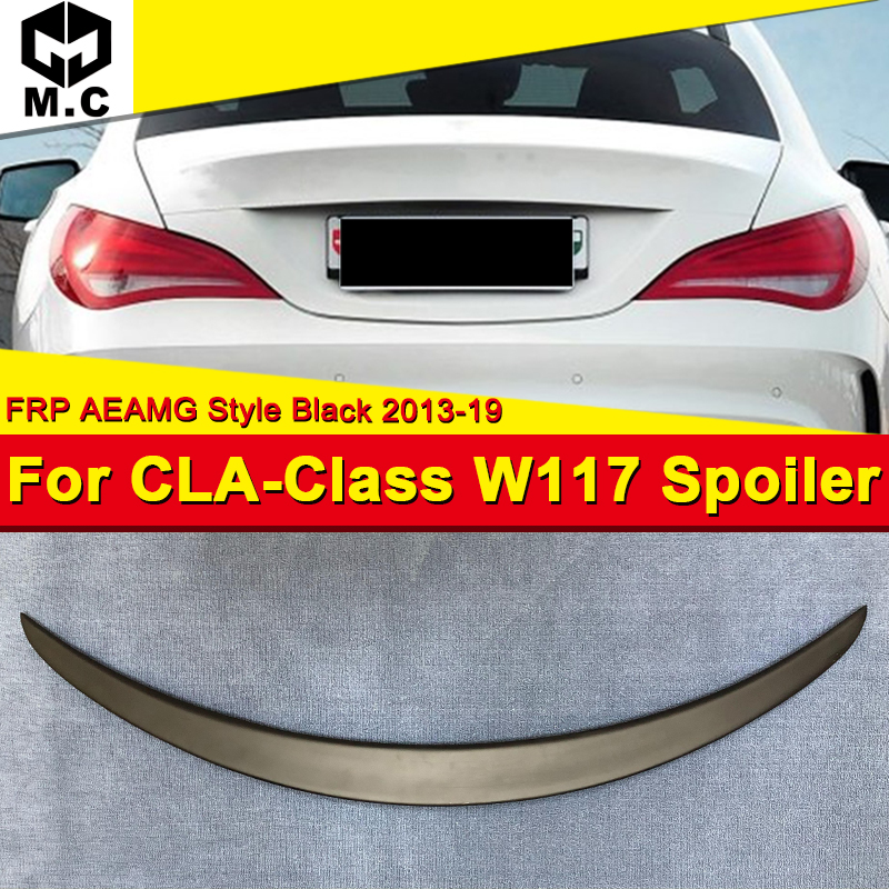 W117 CLA Sedan CLA45AMG style Rear Trunk Spoiler Lip Wing FRP Unpainted Fits For <font><b>Mercedes</b></font> Benz CLA180 200 250 wing spoiler 13-18 image