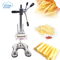 Manual Cut French Fries Machine Potato Cutter Chips +3 Blades Fruit and Vegetable Making Machine