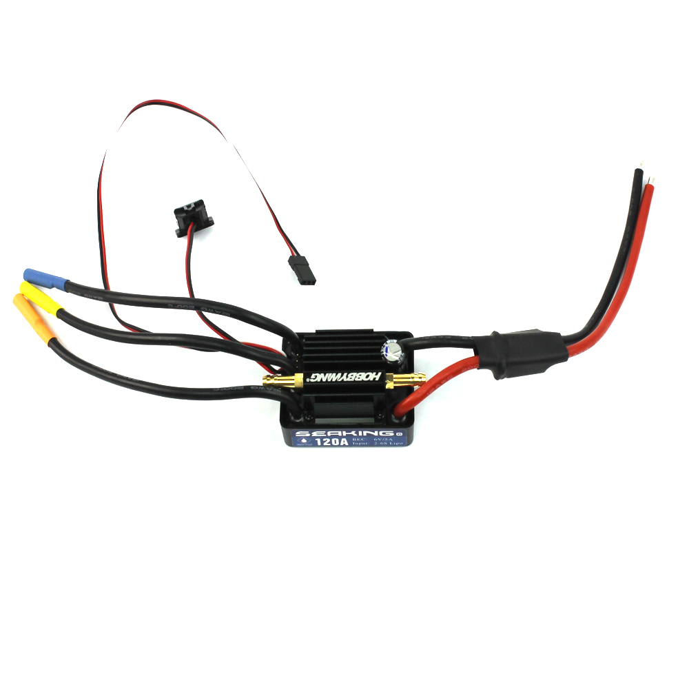 Hobbywing SeaKing V3 Waterproof 120A 180A 2 6S Lipo Speed Controller 6V 5A BEC Brushless ESC