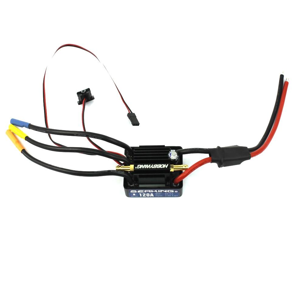 Hobbywing SeaKing V3 wodoodporna 120A/180A 2 6 S Lipo regulator prędkości 6 V/5A BEC bezszczotkowy ESC dla RC wyścigi łodzi F18582/3 w Części i akcesoria od Zabawki i hobby na  Grupa 1