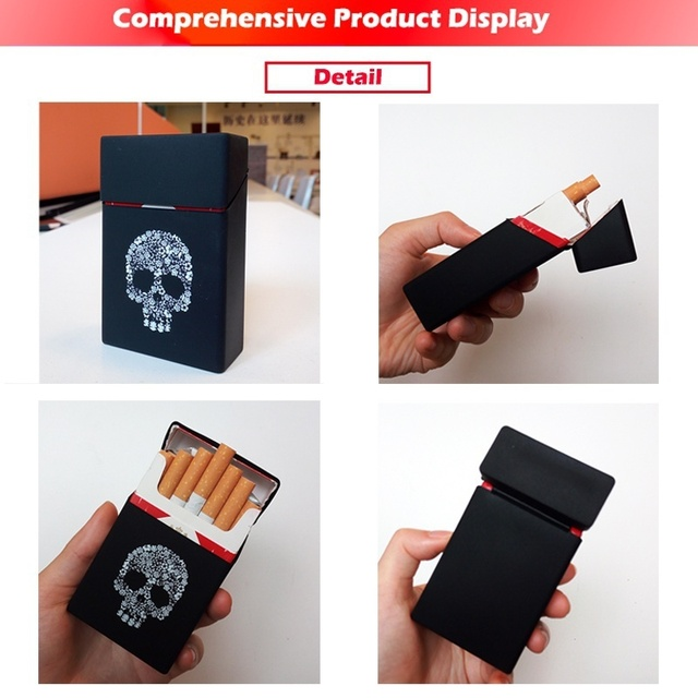 Holds 20 Cigarettes,Personality Silicone Cigarette Case  Cover Elastic Rubber Portable Man/Women Cigarette Box Sleeve