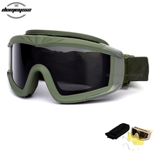 Military Airsoft Tactical Goggles Safety Army Shooting Glasses Anti-UV Protective Military Sunglasses Eye Protection Glasses