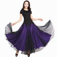 Ballroom Competition Dance Dress Women Tango Flamenco Dancing Costume New High Qualiy Black short Sleeve Waltz Ballroom Dresses