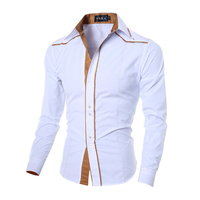 New Arrival White Business Men Dress Long Sleeve Shirts Men Brand Clothing Male Social Casual Shirt