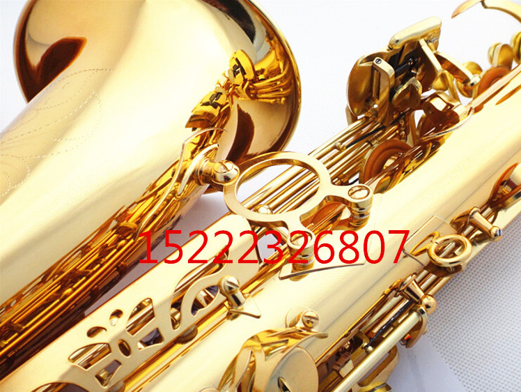 E flat alto saxophone sax musical instrument electrophoresis gold to send teaching reed shipping - 5