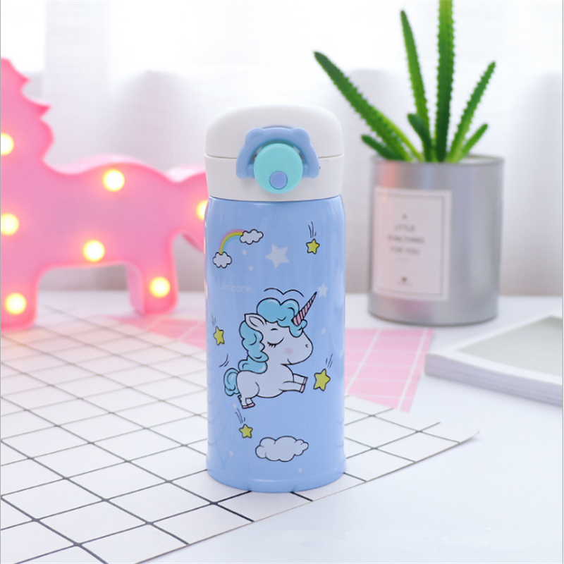 350ml and 500ml Thermal Flask and Unicorn Mug with Strainer for Warm Milk and Water 9