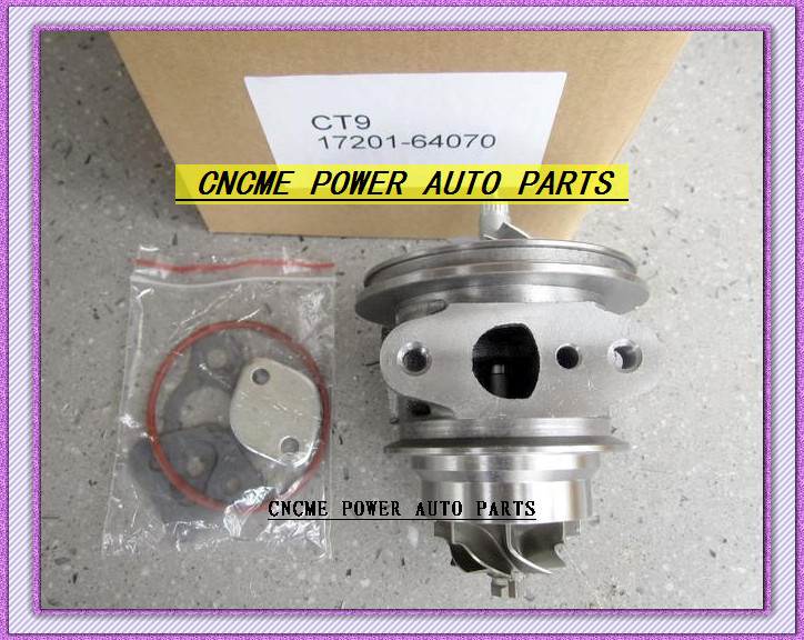 TURBO Cartridge CHRA Turbocharger Core CT9 17201-64070 1720164070 For <font><b>TOYOTA</b></font> Camry Estima Lite TownAce Vista <font><b>3CT</b></font> 3C-T 2.2L 90HP image