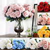 Simulation 10 Heads French Rose Bouquet Artificial Silk Flowers Home Decor