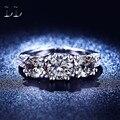 Aaa cubic zirconia joyería dimond oro blanco plateó los anillos de alto grado de bodas de compromiso joyería accesorios para para DD204