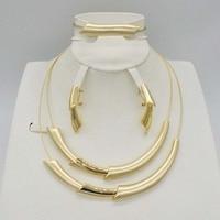 New High Fashion Dubai Jewelry Set Gold Color Nigerian Wedding African Beads Jewelry Sets Parure Bijoux Femme