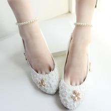 ทำด้วยมือรองเท้าแต่งงานสีขาวเจ้าสาว/เพื่อนเจ้าสาวรองเท้าผ้าพันแผลผู้หญิงของปั๊มรองเท้าส้นสูง
