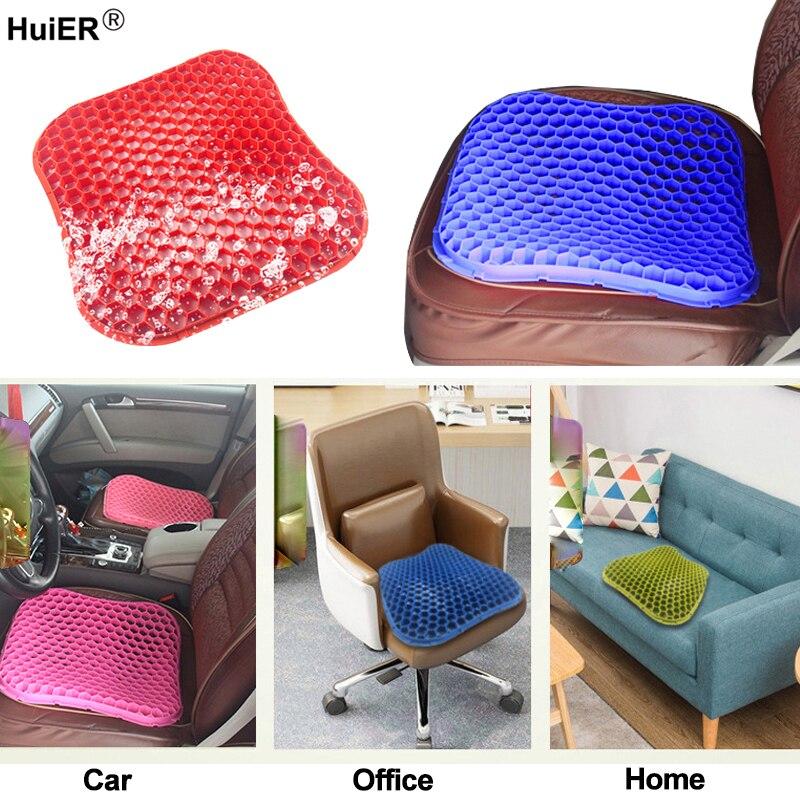 Coussins de siège de voiture d'été tapis de Massage 3D haute Silicone maille respirante Gel de silice Auto siège de voiture couvre Cool voiture style Auto