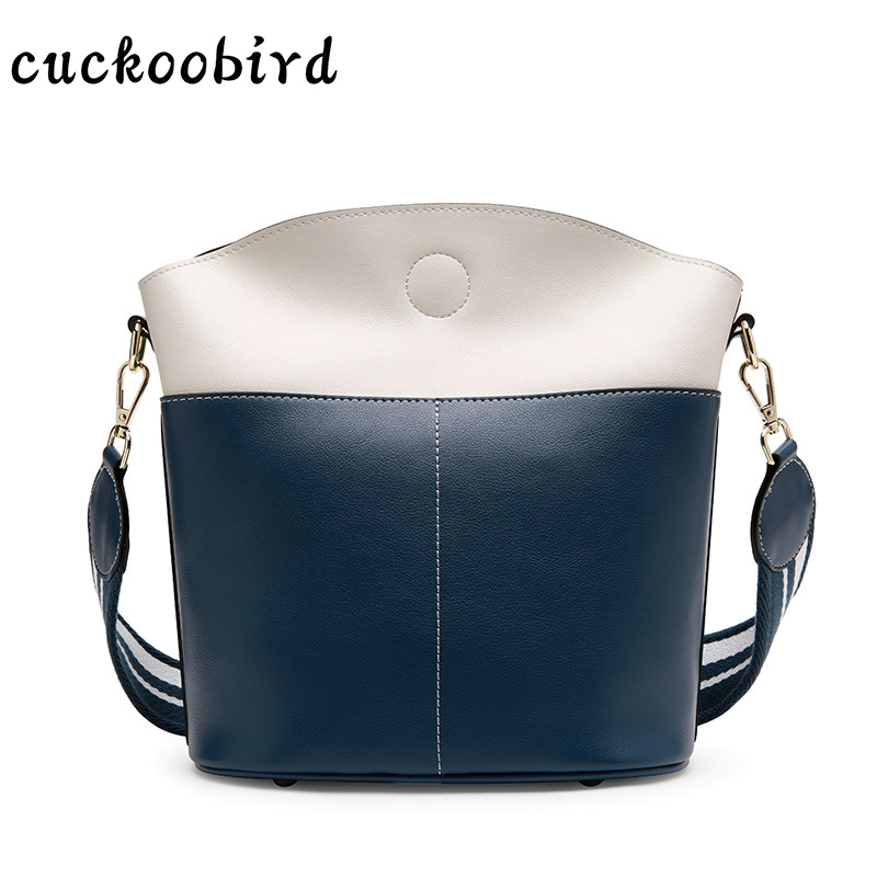 Genuine Leather Shoulder Bag for Women New Bucket Messenger Bag for Party Fashion Female Crossbody Bags for Girls 2018 2017 new female genuine leather handbags first layer of cowhide fashion simple women shoulder messenger bags bucket bags