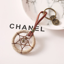Creative gift small fresh key chain dream catcher net bag hanging girls pendant handmade indian wom