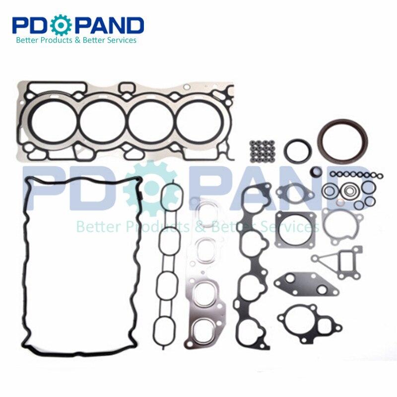 QR25 QR25DE Engine Full Rebuild Gasket Set/Kit A0101 ET80J for Nissan X TRAIL T31 2.5 2488cc|Engine Rebuilding Kits| |  -