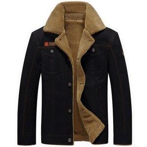 Image 2 - Mountainskin ฤดูหนาวเสื้อแจ็คเก็ตหนาขนแกะชายเสื้อลำลองขนสัตว์ Collar บุรุษทหารยุทธวิธี Parka Outerwear SA351