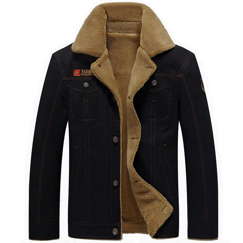 Image 2 - Mountainskin Winter Warm Jackets Thick Fleece Men's Coats Casual Cotton Fur Collar Mens Military Tactical Parka Outerwear SA351-in Jackets from Men's Clothing