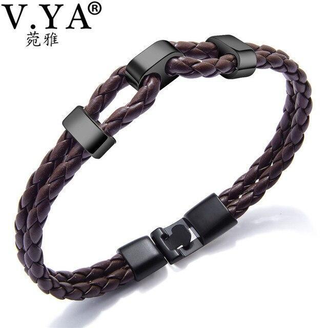 Aliexpress Com Buy V Ya Fashion Braided Leather Bracelet Men Women