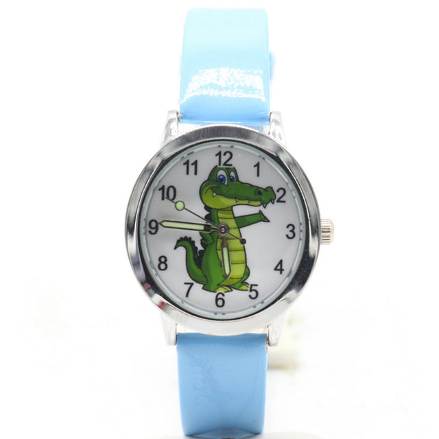 free shipping kids lovely 3D Cartoon crocodile Design Analog Wrist Watch Childre