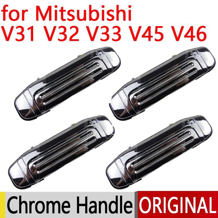 Pour Mitsubishi Pajero 2 Accessoires Chrome Porte Poignée V31 V32 V33 V43 V44 V45 V46 1991-1999 1996 1998 1992 Autocollant De Voiture Style