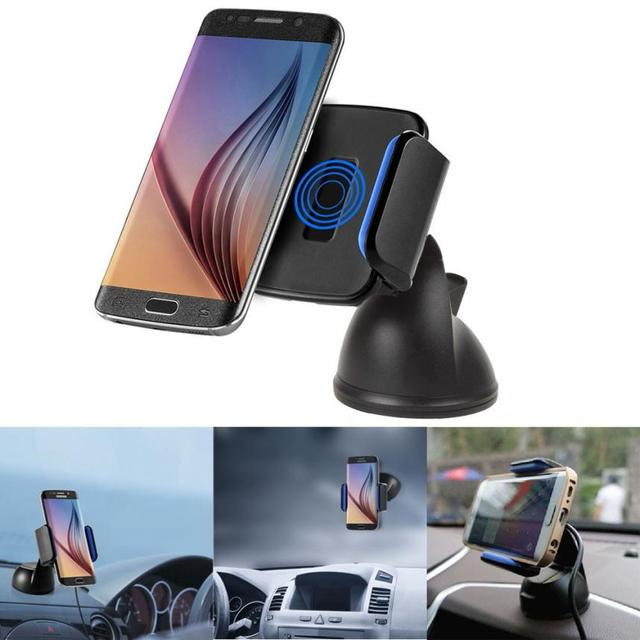 Good Sale Qi Wireless Car Charger Transmitter Holder for Samsung Galaxy S7 / S6 Jul 13