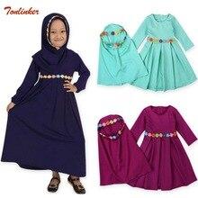 Kids Muslim Clothes Ramadan Traditional clothing Fashion Child baya Girl dress abaya islamic big girl Children 2ps