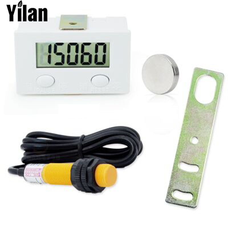 Five Digit Digital Electronic Counter Puncher Magnetic Inductive Proximity Switch Durable Quality+Proximity switch+Limit switc 0 8 lcd electronic digital 5 digit ring tally counter 1 x ag10