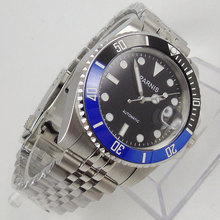 Parnis Automatic Diver Watch Super LUME Metal Mechanical Watches Top Brand mechanical Black Dial Sapphire Glass Best Cheap Sale loreo high quality business mechanical corrosion resistant automatic mechanical pearl dial inlay diamond sapphire elegant watch