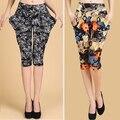 Primavera verão feminino soltas Sweatpants Magras Florais Calças harém hip hop marca Casuais bloomers Capris mulheres Calças Skinny