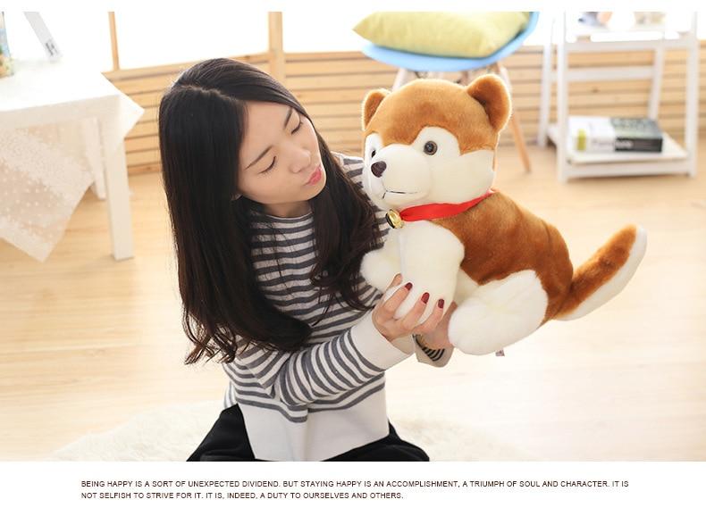 big new plush yellow dog toy creative stuffed Pomeranian dog doll gift about 50cm mad about organics all natural dog
