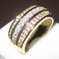 Classic Princess-cut White Sapphire Clear CZ Yellow Gold Filled Ring Simulated Diamond Band for Women and Men free shipping