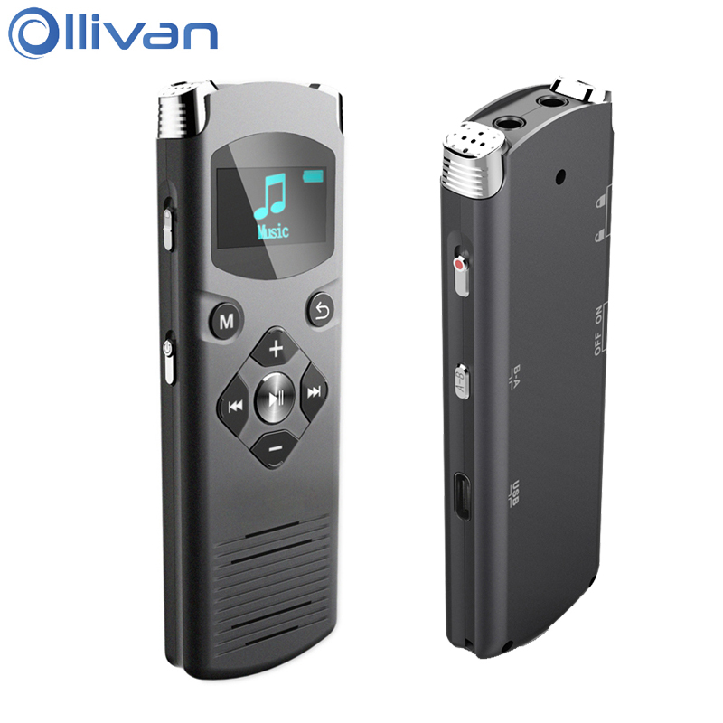 Ollivan DVR-616 Digital Voice Recorder 4GB 8GB 16GB Professional Video Recorders Noise Reduction Voice Activated For PC Android