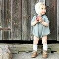 Bebé Mameluco de La Muchacha Del Otoño Suéter de Punto Infantil Kids Toddler Pullover sueter Azul Naranja roupas infantis menina fille bebé