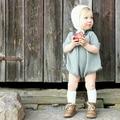Romper Da Menina do bebê de Malha Outono Camisola Infantil Pullover Crianças roupas infantis de menina Da Criança Azul Laranja sueter bebê fille