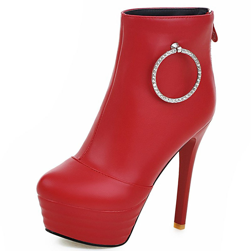 ФОТО fantastic sexy mature muse style shoes woman rhinestone charm ankle platform woman boots high and thin heel woman boots ss593