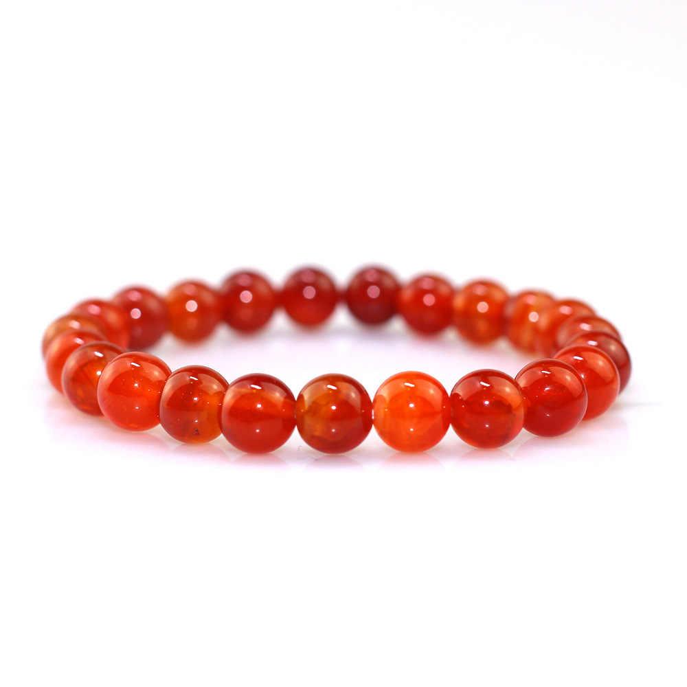 2019 New Red Chinese stone beaded bracelet Design Couple Bracelet handmade DIY Beaded Bracelet Charm for Women Girl Jewelry gift