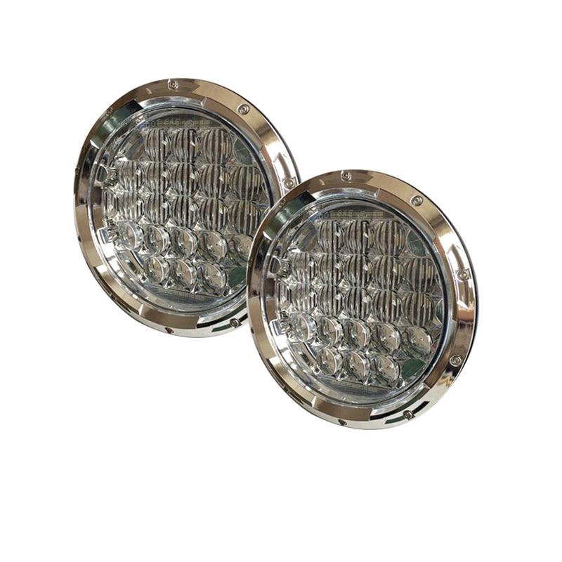 Free shipping Chrome 7'' INCH Round LED Headlight 75W 5D Daymaker Headlight for Jeep Wrangler JK CJ Harley Davidson Motorcycle