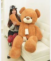 stuffed filling toy large scarf teddy bear plush toy about 130cm hugging pillow birthday gift h446