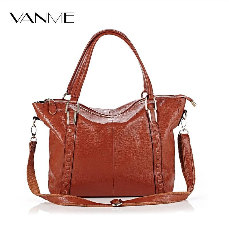 New 2017 Soft Real Genuine Leather Women's Hangbag Ladies Shoulder Tote Bag Women Messenger Bag Casual Female Crossbody Bags