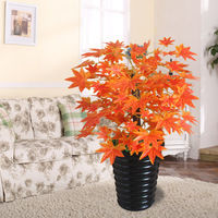 artificial 70cm red maple leaf bonsai tree without pot artificial plants living room floor decoration fake plants tree
