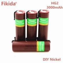 Fikida Novo HG2 18650 3000 mah bateria recarregável cigarro eletrônico alta-30A alta corrente de descarga + DIY nicke