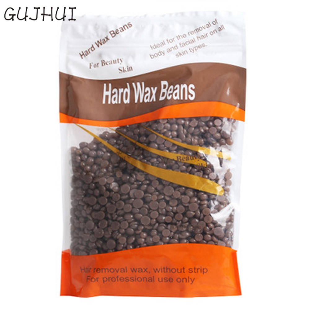 1 bag Coffee Flavor No Strip Depilatory Hot Film Hard Wax Pellet Waxing Bikini Hair font